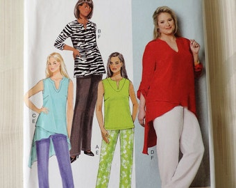 Butterick B6069 Size 18W - 32W Women's Tunic and Pants Sewing Pattern / Uncut/FF