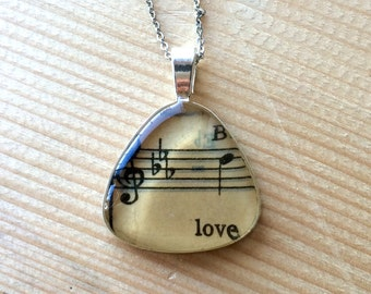 Love Triangle Music Necklace