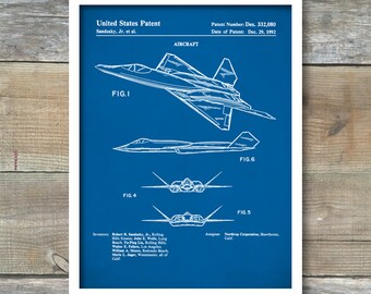 Patent Print, Fighter Plane Poster, Fighter Plane Patent, Fighter Plane Print, Fighter Plane Art, Fighter Plane Decor, Aircraft Art, P320