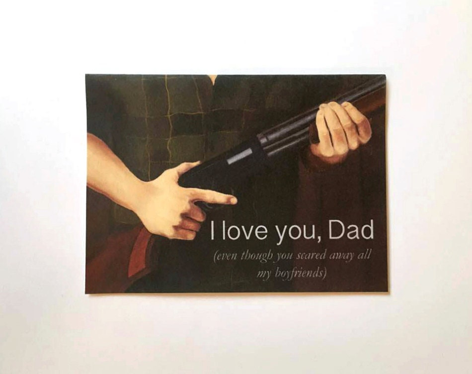 Birthday Cards For Daddy From Daughter ~ Funny birthday card for dad card for dad from daughter gun