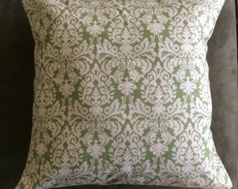 Waverly MINI MUSE SAGE Green Tan Flowers Cottage Shabby Chic Pillow Cover Decorator Fabric