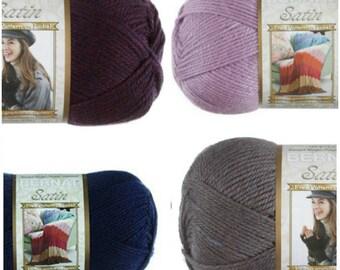 Bernat Satin Yarn Worsted Weight Yarn For Knitting and Crocheting  a Lush  Soft  Beautiful Yarn
