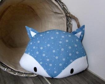 Fox light jeans floral decorative pillow