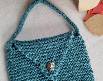 Button Purse Hand Knit