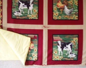 Barn Yard Animals Throw Quilt\/Blanket