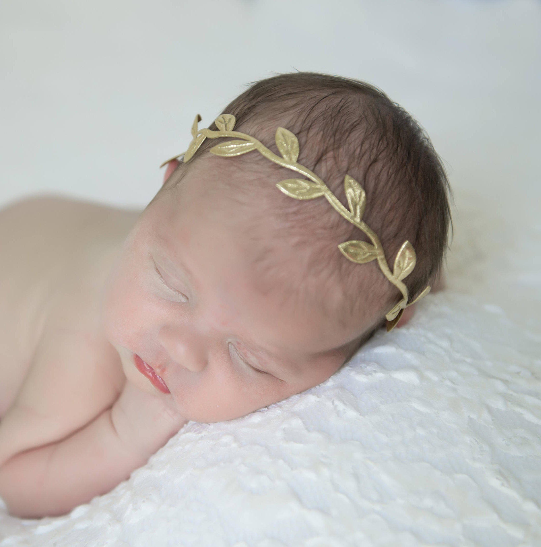 crown girls angel newborn years jewellery for headband in line gold of baby