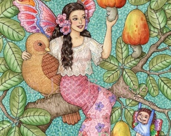 A FABLE of the CASHEW limited edition art print
