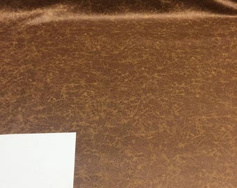 Upholstery P Kaufmann Vintage Leather Brandy Vinyl Fabric by the yard