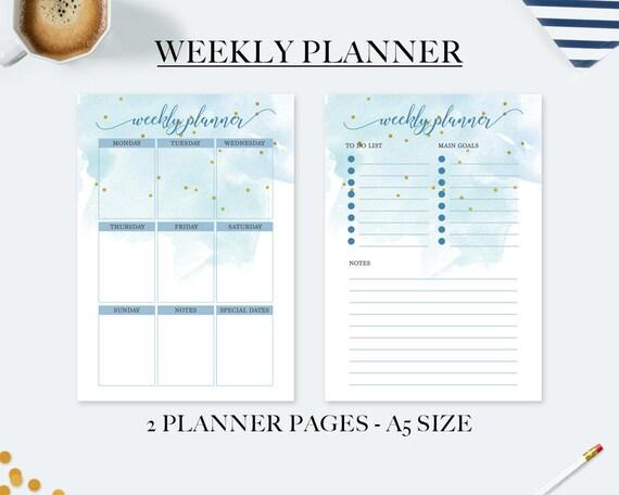 Preferenza Planner settimanale planner stampabile agenda 2018 ricambio FD85