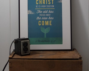 2 Corinthians Poster.  Inspirational print. Quote poster. Wall Art. Typography poster - 11x17 Poster