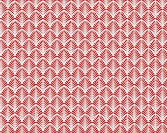 Red Art Deco Pattern Digital Download