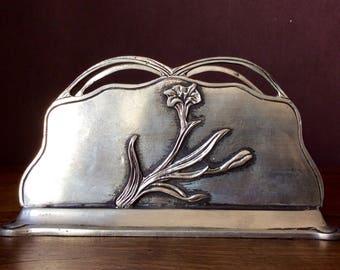 Art Deco metal letter box