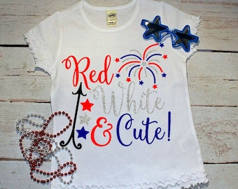 4th of July Shirts For Girls, Independence Day, 4th of July outfit, Fourth of July, red white and blue, 4th of July baby