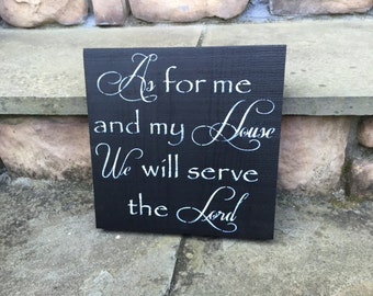 As for me and my house we will serve the Lord sign by Allison Miller Design - Hand Painted Wood Sign, Christian signs, Religious Wall art