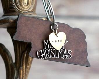 NEBRASKA Christmas Ornament SMALL, Nebraska Ornament, Christmas Gifts 2018 Christmas Ornaments, Personalized Gift, NEBRASKA Ornaments