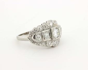 Unique Diamond and Platinum Ring