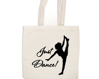 Just Dance Dancing Funny Canvas Tote Bag Market Pouch Grocery Reusable Recycle Go Green Eco Friendly Jenuine Crafts