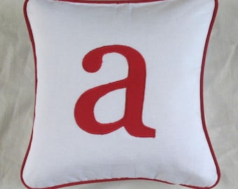 Monogram pillow with personalized letter, custom made. Choose  your color and font,