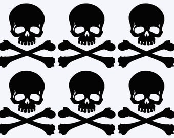 Skull and Crossbone Decals/Stickers