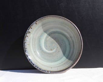 Small bowl with celadon and white swirl