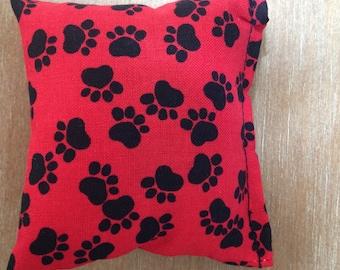 Handmade Red Paw Print Catnip Cat Toys