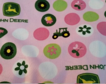 Replacement Changing Pad Cover Bassinet Sheet, Pink John Deere Minky