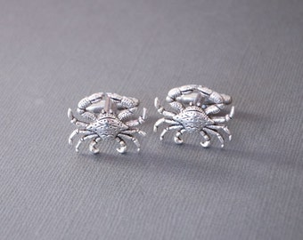 Crab Cufflinks Nautical Cufflinks Crab Gifts Nautical Gifts Astrological Sign Cancer Steampunk Antique Silver Men's Accessories Men's Gifts