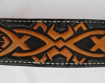 Border Collie collar, Pitbull collar, Leather dog collar, Cocker Spaniel collar, pet collars
