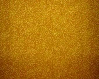 Fine Vine Mottled Deep Yellow Fabric