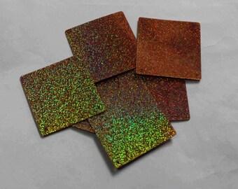 15 Copper Glittering Square Shape Sequins/KBSS729