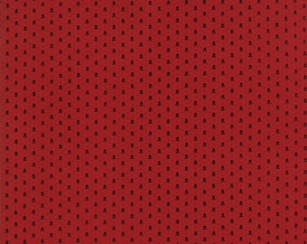 Moda - Needle & Thread Gatherings - Lotus Red - Russet - Fabric by the Yard 1232-14