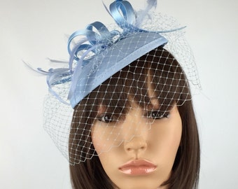 Pale Blue fascinator Baby Blue Fascinator Wedding Hatinator Ascot Races Weddings Mother of the Bride Occasion Garden Party