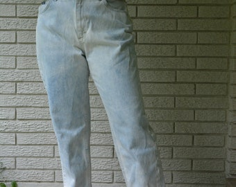 Vintage High Waisted Hipster Indie Grunge Lee Mom Jeans Size 12 Short