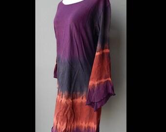 Boho Hippie Gypsy Tie Dye Dress Bust 36 Waist 40 Hip 44