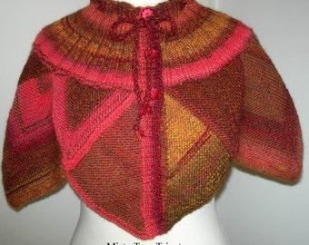 riscaldamento spalla Palermo, fatto a mano, modulare per maglieria, creazione di Misty Tuss Tricote - modello unico