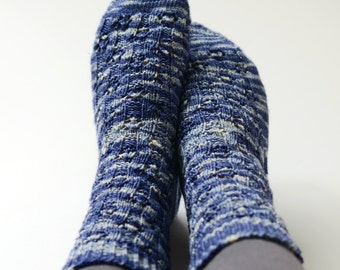 Knitting Kit - Doctor Who Starry Socks - Hand Dyed Sock Yarn and Knitting Pattern - Fingering Weight