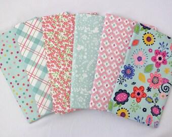 Mint Enchanted Riley Blake One Yard Fabric Bundle