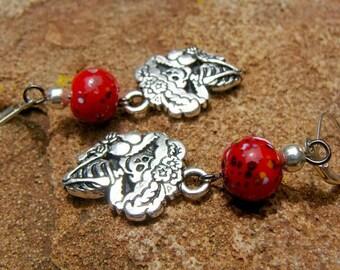 Dia de los muertos day of the dead earrings  Day of the Dead earrings