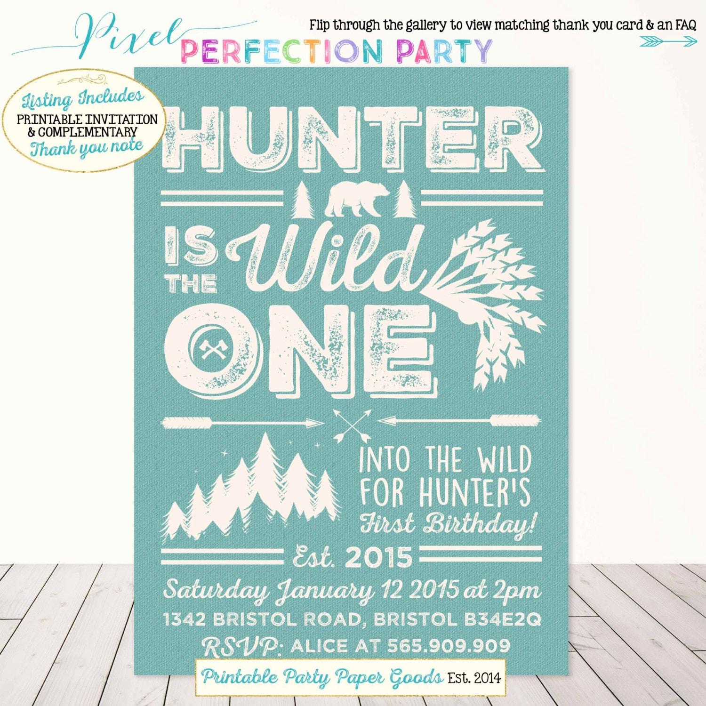 Wild One Birthday Invitation Into The Wild Birthday Invitation