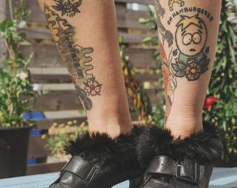 Black Leather Buckle Vintage Shoes