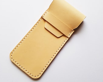 Veg Tanned Handcrafted Leather Pen Case