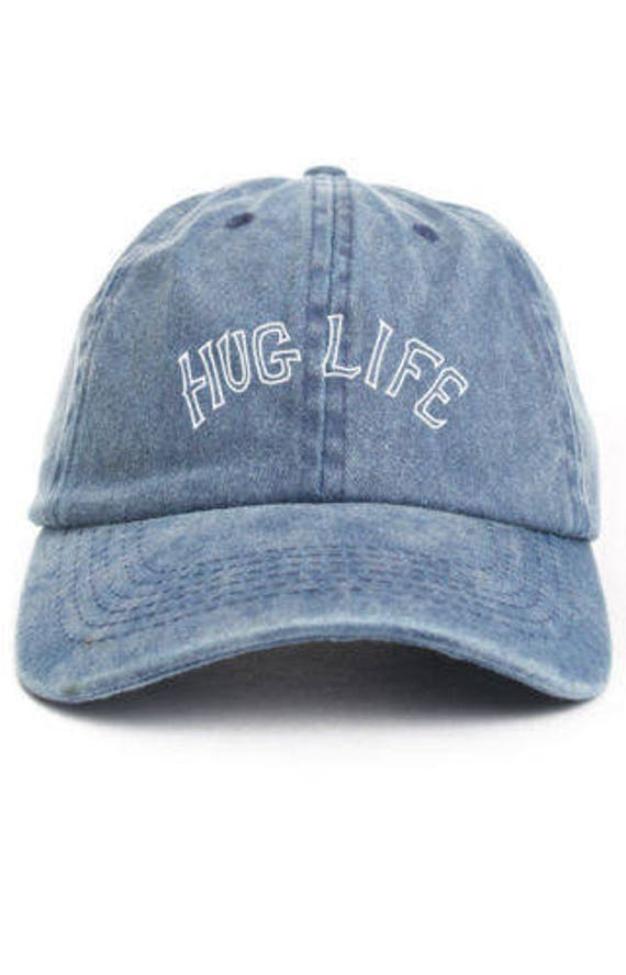 53a170899b6 HUG LIFE Unstructured Dad Hat Adjustable Baseball Cap New - Denim
