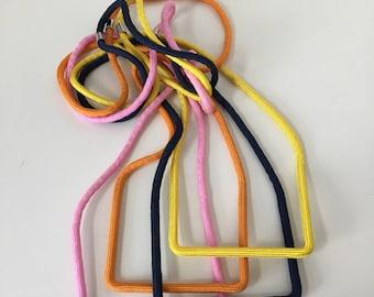 Orange Tbar Necklace