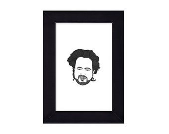 4 x 6 Framed Giorgio A. Tsoukalos / Ancient Aliens Portrait