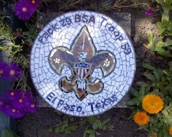 Custom designed mosaic garden stepping stone - graduation gift - retirement gift - teacher gift