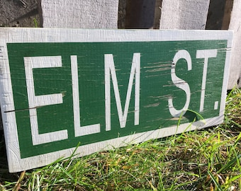 Halloween Decor. Elm St Wood Sign