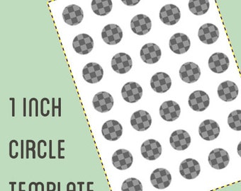 Digital collage template - 1 inch circle - bottle cap template - Do It Yourself digital collage - instant download