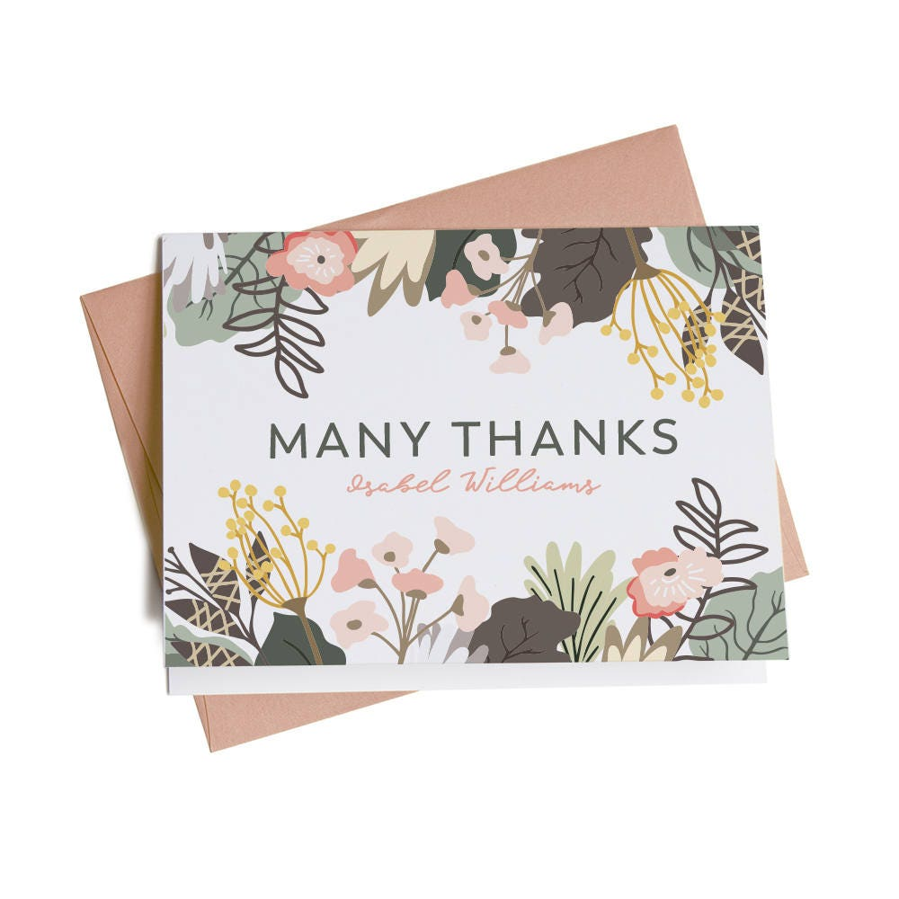 Personalized Thank You Cards Business Thank You Cards Thank