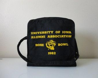 VINTAGE 1982 IOWA hawkeyes rose bowl BAG