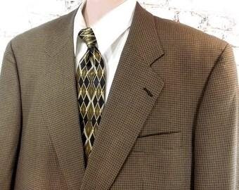 brown Silk Wool sport coat -men's Sport coat, men's blazer, men's sports jacket, brown sports coat,  blazer, size 46 R.   # 28